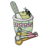 Iron On Patch Applique - Mortar and Pestle