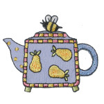 Iron On Patch Applique - Teapot