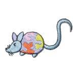 Iron On Patch Applique - Blue Mouse Left