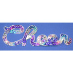 Iron On Patch Applique - 'CHEER' Holographic Sequin Word