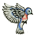 Iron On Patch Applique - Bird Flapping Wings