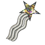Iron On Patch Applique - Gold Sequin Star