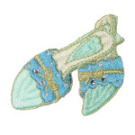 Iron On Patch Applique - Shoes Blue and Green