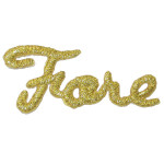 Iron On Patch Applique - Golf Word 'FORE'