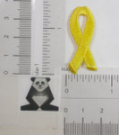 Iron On Patch Applique - Yellow Awareness Ribbon