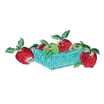 Iron On Patch Applique - Apples in Box