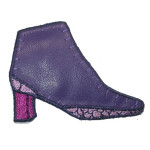 Iron On Patch Applique - Purple Shoes