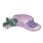 Iron On Patch Applique - Hat with Flowers