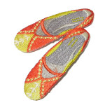 Iron On Patch Applique - Orange Slippers