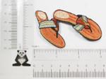 Iron On Patch Applique - Brown Flip Flops