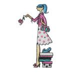 Iron On Patch Applique - Boutique Shoe Shopping Lady