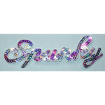 Iron On Patch Applique - Sequin Word SPUNKY Multi