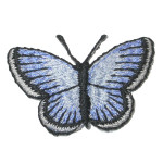 Iron On Patch Applique - Blue Butterfly