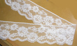 "Scalloped Lace 3 3/4"" White Floral 25 Yards"