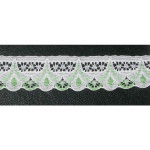 """Lace 1 1/4"""" White & Green 274 Yard Roll"""