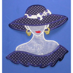 Iron On Patch Applique - Giant Polka Dot Fashion Bust