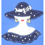 Iron On Patch Applique - Polka Dot Fashion Bust.