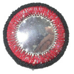Iron On Patch Applique - Circle Mirror Red