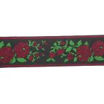 "Jacquard Ribbon 1 5/8"" Red Roses 50 Yards"