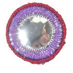 Iron On Patch Applique - Circle Mirror Purple
