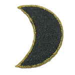 Iron On Patch Applique - Black Crescent Moon