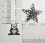 "Iron On Patch Applique - Foil Star 1 1/2"" (38.1mm)"