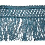"Chainette Fringe 4"" Drop Teal Per Yard"