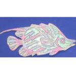 Iron On Patch Applique - Pastel Sparkle Fish.