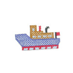 Iron On Patch Applique - Ferryboat Cross Stitch
