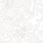 Glass Bugle Beads 4.5mm long Crystal 20 Grams