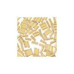 Glass Bugle Beads 4.5mm long Gold 20 Grams