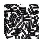 Glass Bugle Beads 4.5mm long Black 20 Grams