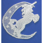 Iron On Venise Lace Applique - Unicorn and Moon