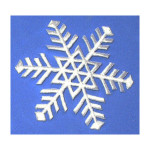 Iron On Patch Applique - Snowflake Large White