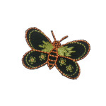 Iron On Patch Applique - Butterfly Black & Yellow