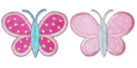 "Iron On Patch Applique - Butterfly 2 3/4"" Dandy Dots Large *Colors*"