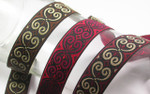 "Jacquard Ribbon 1"" Poly Swirl *Colors* 5 Yards"
