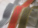 "Jacquard Ribbon 1 1/2"" (38mm) Diamond Trellis Pattern *Colors* Priced Per Yard"