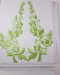 Iron On Patch Applique -  Long L&R Flower Spray lime
