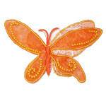 Iron On Patch Applique Butterfly Layered Wings Orange