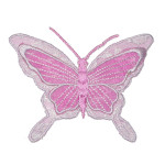 Iron On Patch Applique - Butterfly Sheer PINK.
