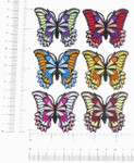 "Iron On Patch Appliques - Butterfly Azzi 2 1/8"" *Colors*"