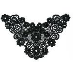 Venice Lace Yoke Applique - Medium-Black