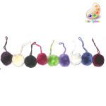 "Tassel Pom Pom 1 1/2"" Grape Per Piece"