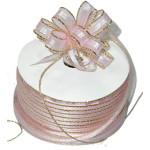 "Pull A Bow 3/8"" Ribbon 50 Yard Roll Pink"