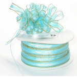 "Pull A Bow 3/8"" Ribbon 50 Yard Roll Turquoise"
