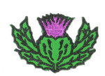 "Iron On Patch Applique - Thistle Scottish Highland 1 1/4"" High"
