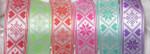 "Jacquard Ribbon 1 9/16"" Poly Alpine-Style Cross Stitch Pattern *Colors*"