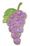 Iron On Patch Applique - Grapes Shimmer