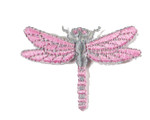 Iron On Patch Applique - Dragonfly Pink